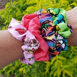 Back to School SCRUNCHIES, SET OF 4